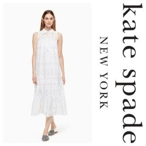 Kate Spade Eyelet Patio Dress in Fresh White XS